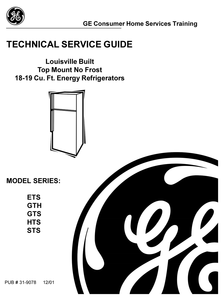 GE ETS SERIES TECHNICAL SERVICE MANUAL Pdf Download