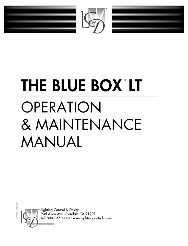 lighting controls blue box lt series
