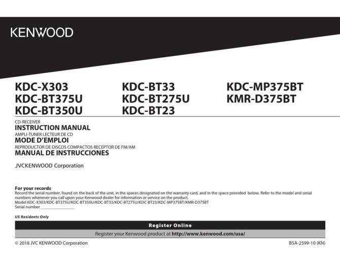 kenwood kdcx303 instruction manual pdf