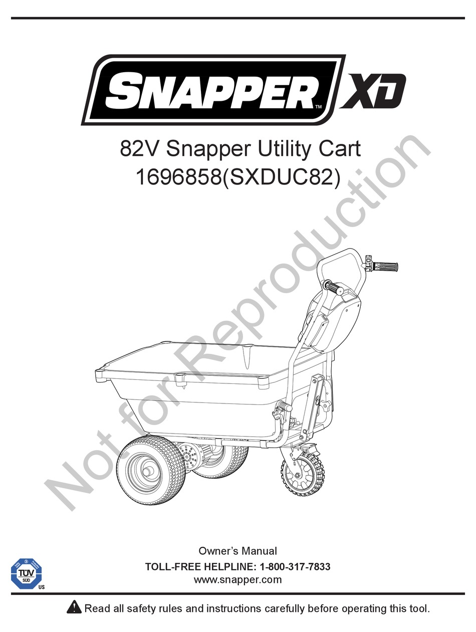BRIGGS & STRATTON SNAPPER XD OWNER'S MANUAL Pdf Download
