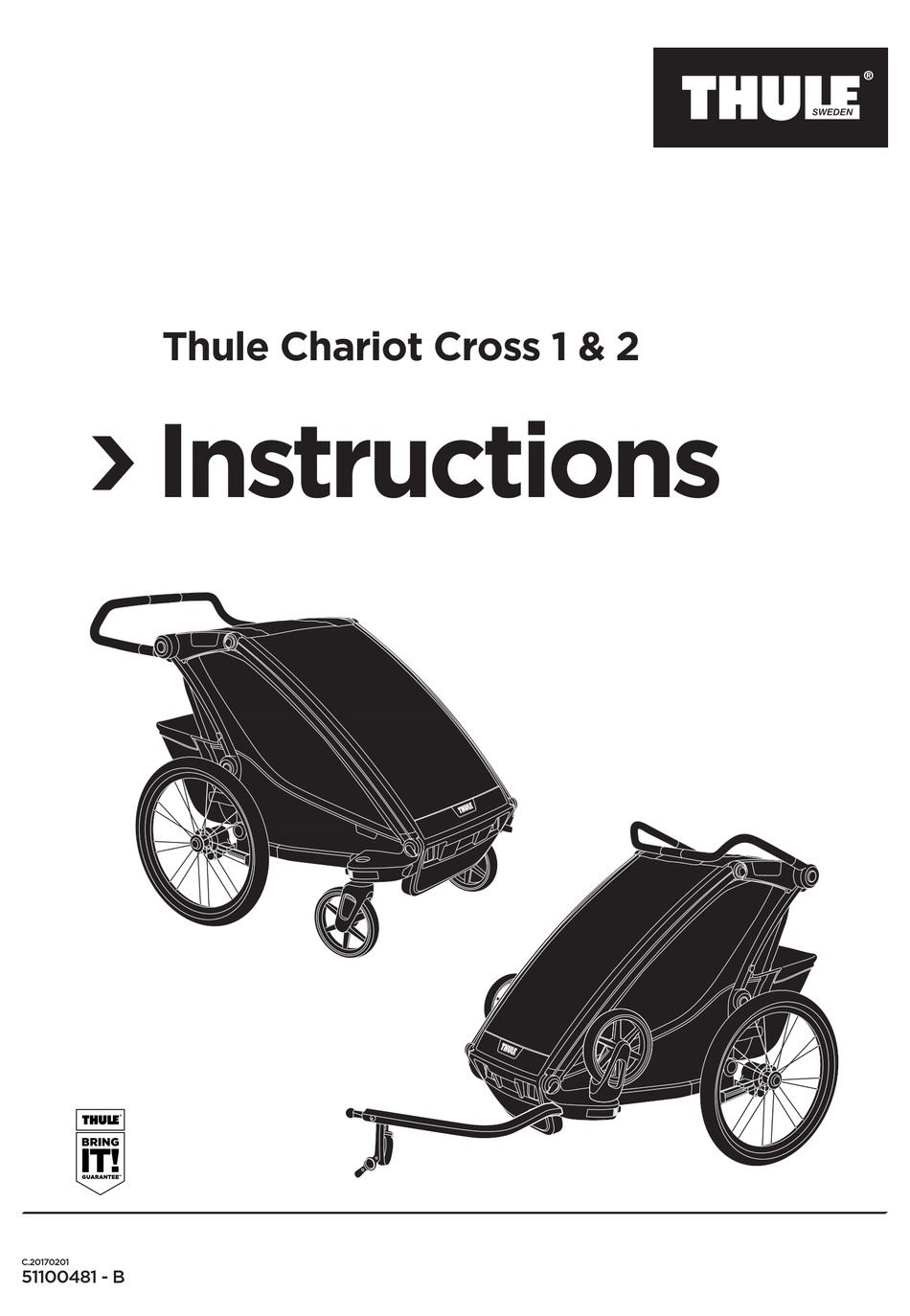 THULE CHARIOT CROSS 1 INSTRUCTIONS MANUAL Pdf Download