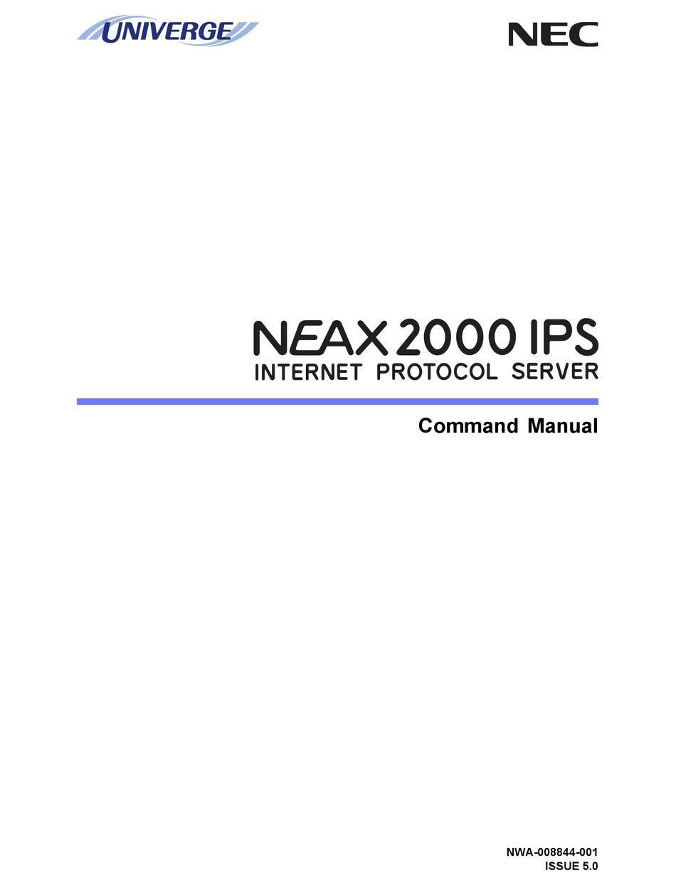 Nec Neax Command Manual Customer Administration Terminal