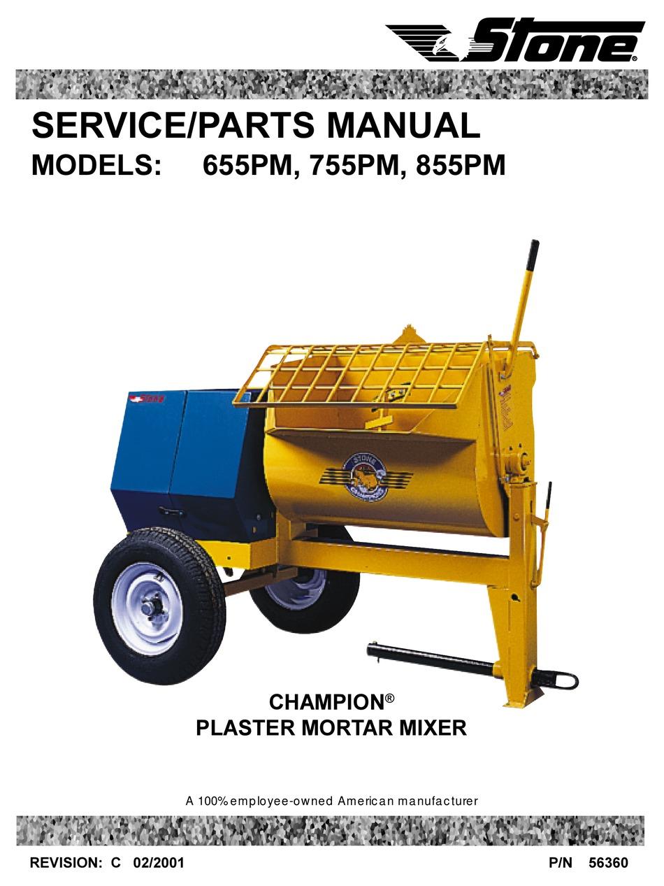 Stone 855PM Mortar Mixer Parts | JobsiteParts.com