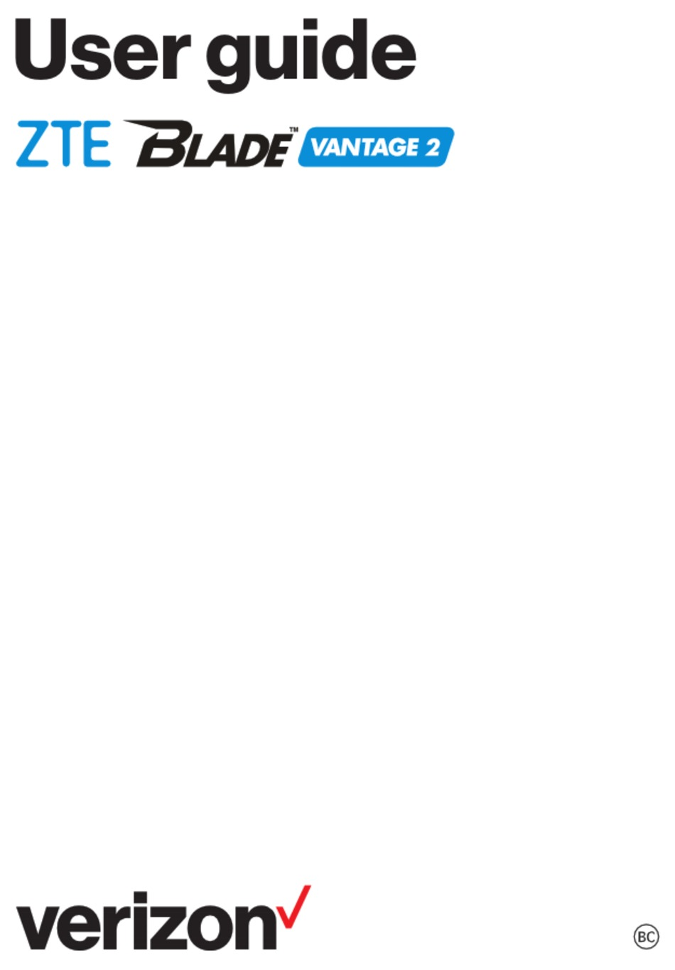 ZTE VERIZON BLADE VANTAGE 2 USER MANUAL Pdf Download
