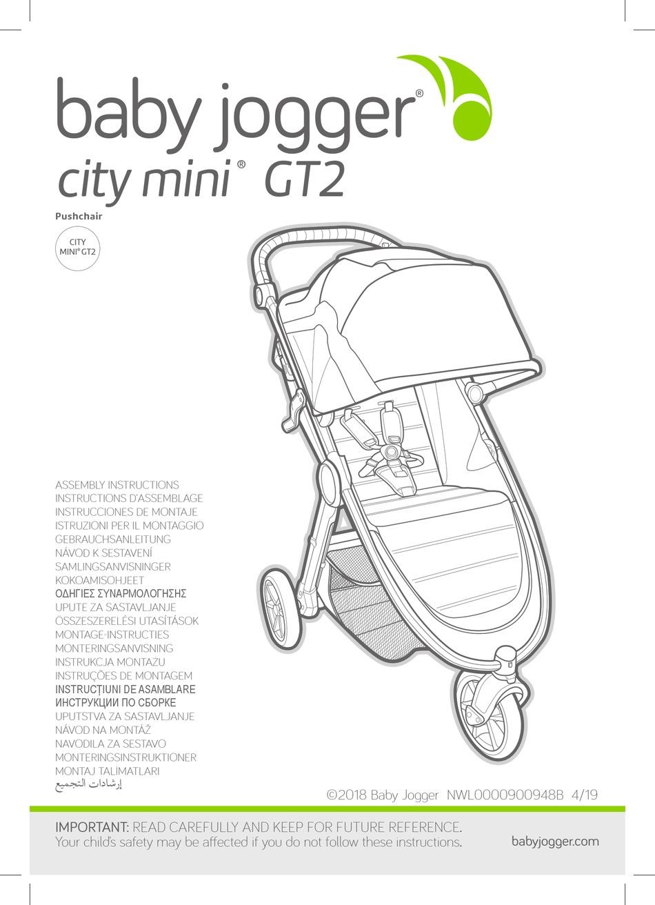 BABY JOGGER CITY MINI GT2 ASSEMBLY INSTRUCTIONS MANUAL Pdf