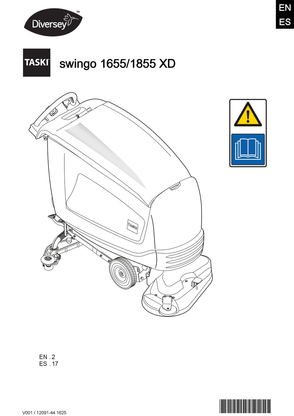TASKI SWINGO 1855 XD INSTRUCTIONS FOR USE MANUAL Pdf