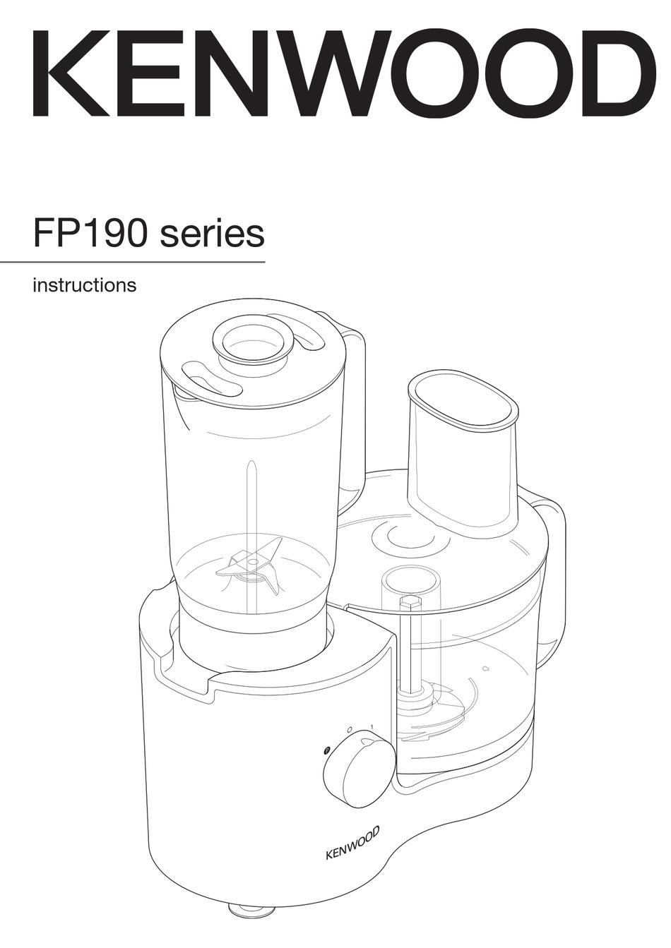 KENWOOD FP190 SERIES INSTRUCTIONS MANUAL Pdf Download