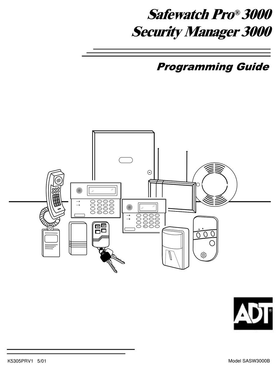 ADT SAFEWATCH PRO 3000 PROGRAMMING MANUAL Pdf Download