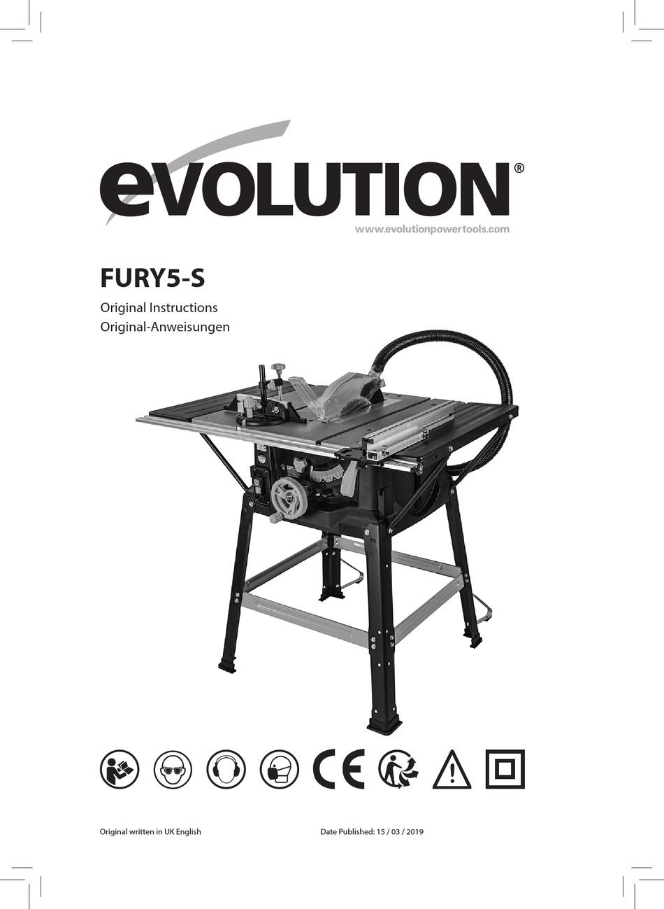 EVOLUTION FURY5-S ORIGINAL INSTRUCTIONS MANUAL Pdf