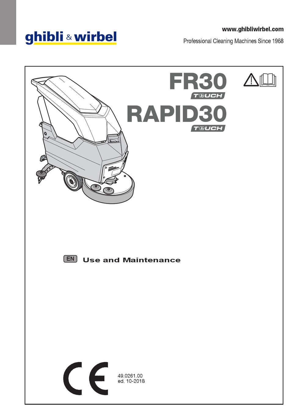 GHIBLI & WIRBEL FR30 TOUCH USE AND MAINTENANCE Pdf