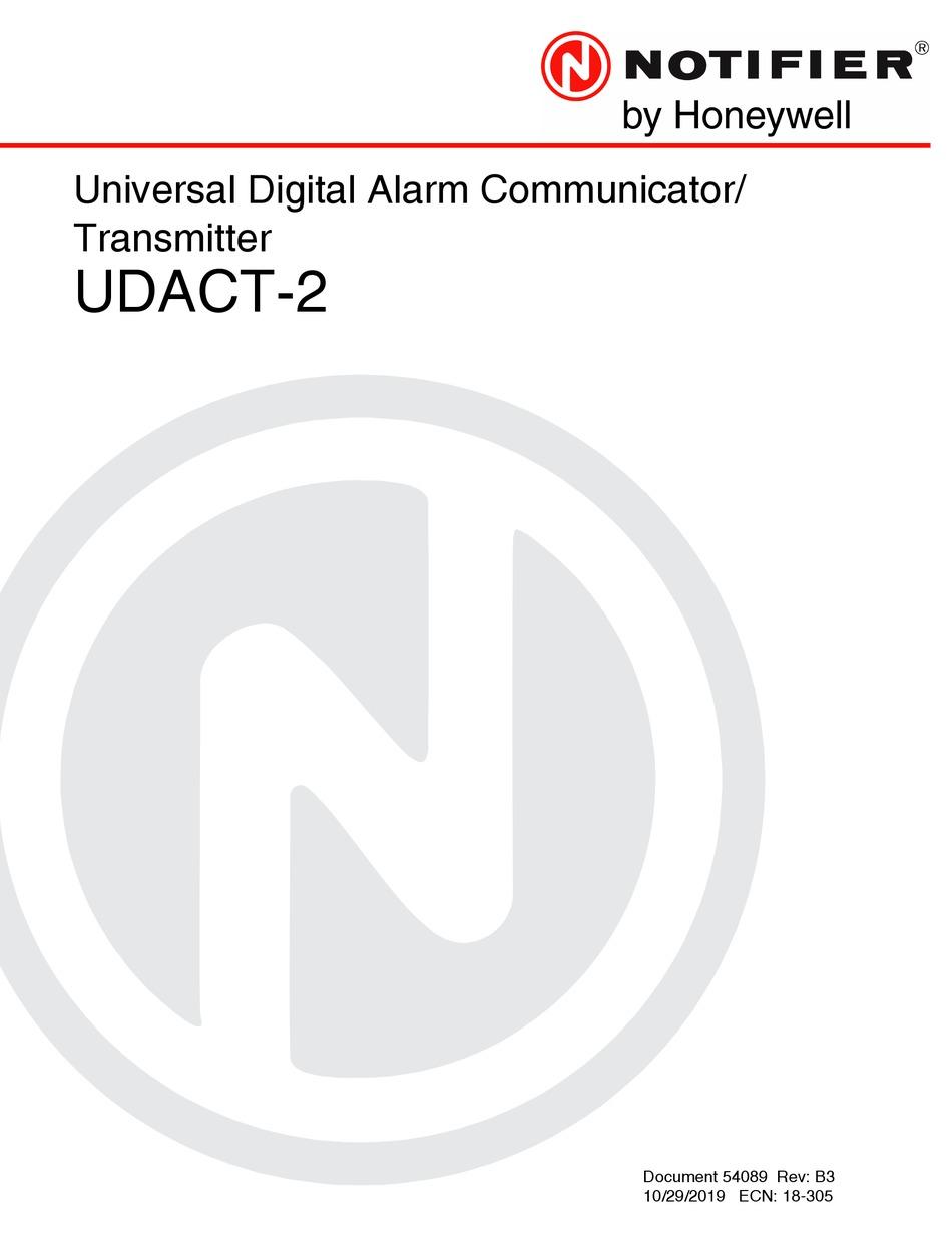 HONEYWELL NOTIFIER UDACT-2 INSTRUCTION MANUAL Pdf Download