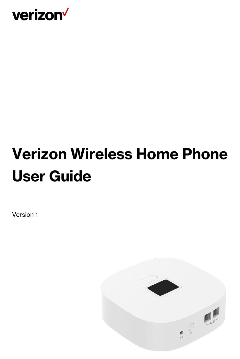 VERIZON WIRELESS HOME PHONE USER MANUAL Pdf Download