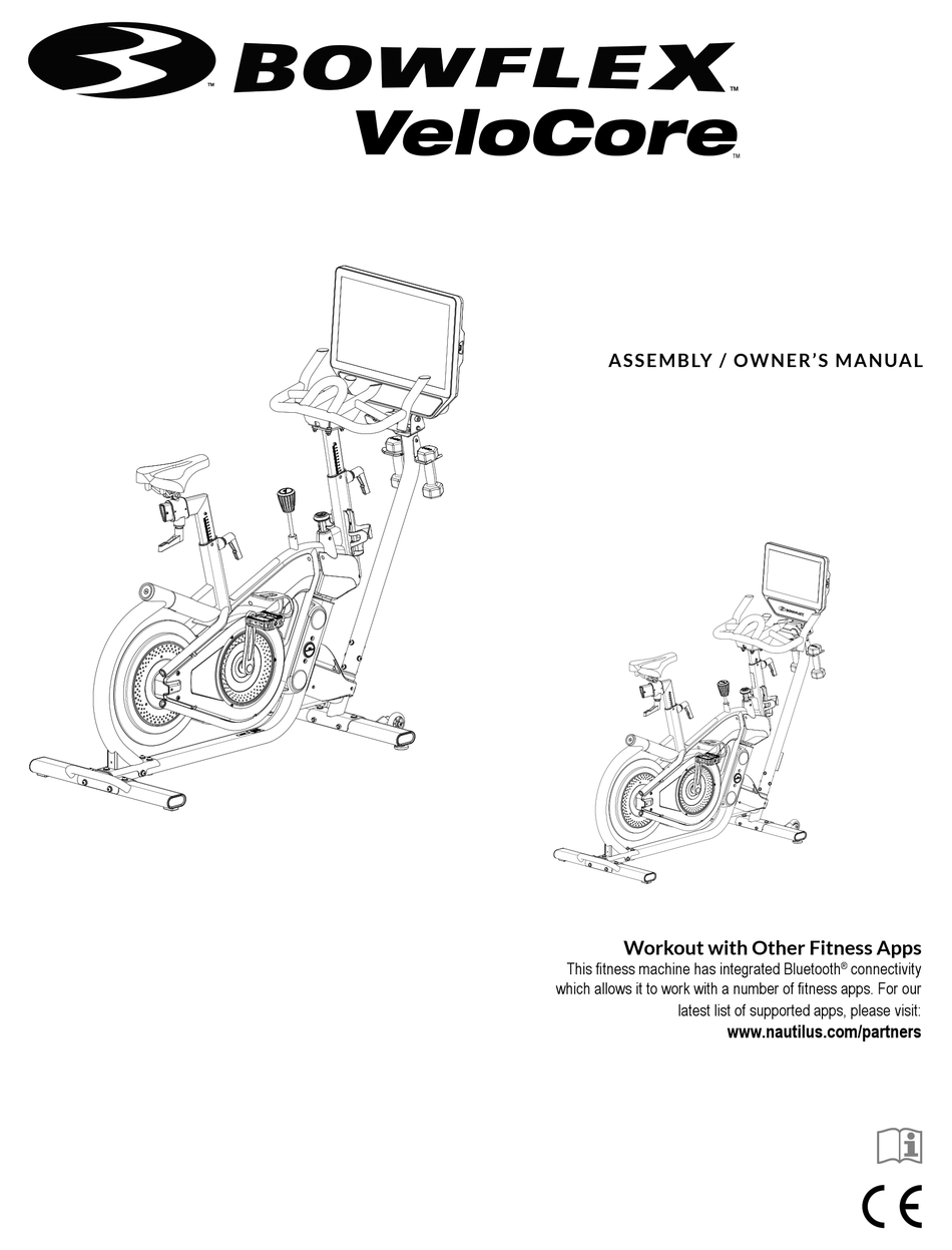 BOWFLEX VELOCORE 16 ASSEMBLY AND OWNER'S MANUAL Pdf