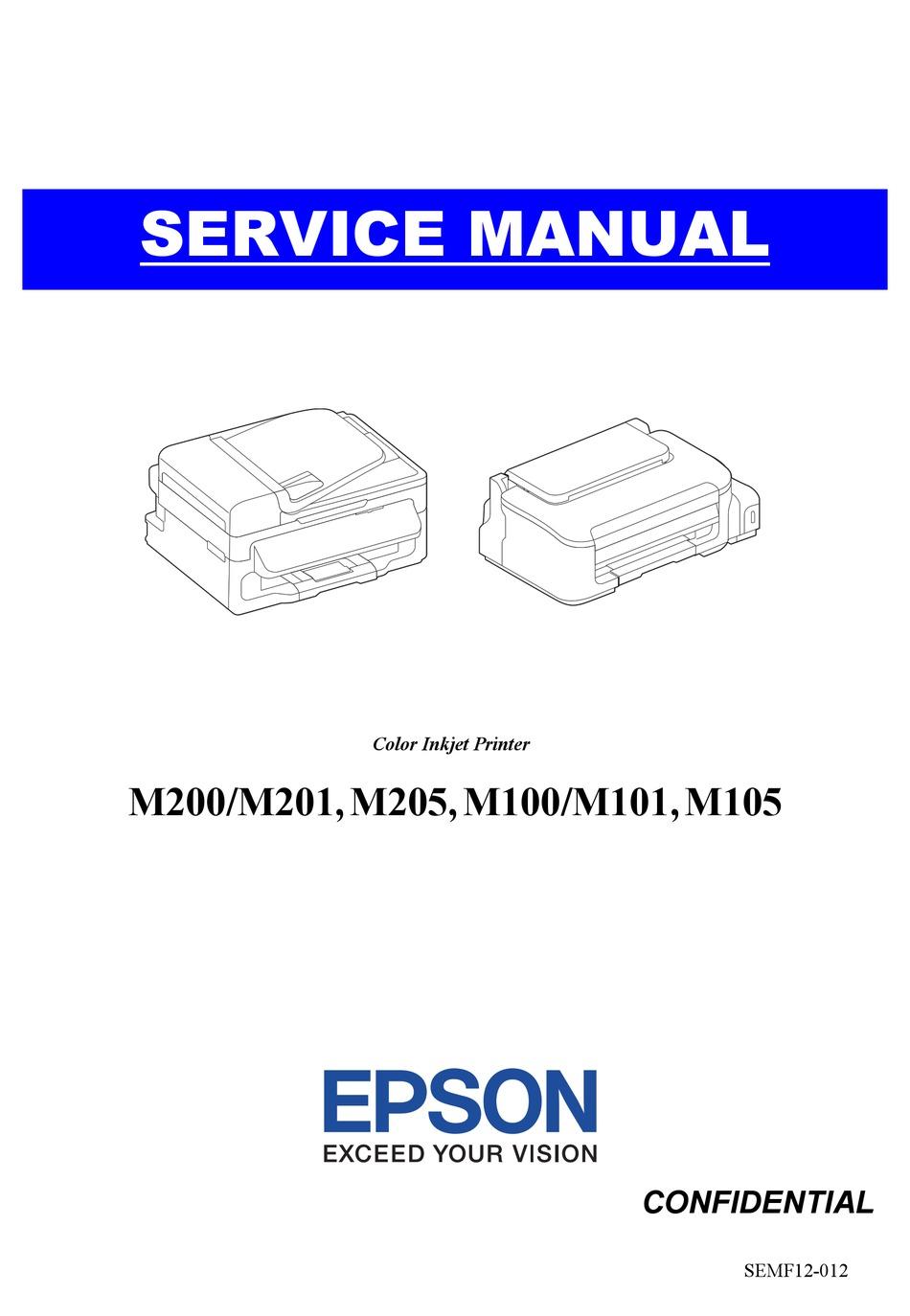 Driver Printer Epson M200 : driver, printer, epson, EPSON, SERIES, SERVICE, MANUAL, Download, ManualsLib