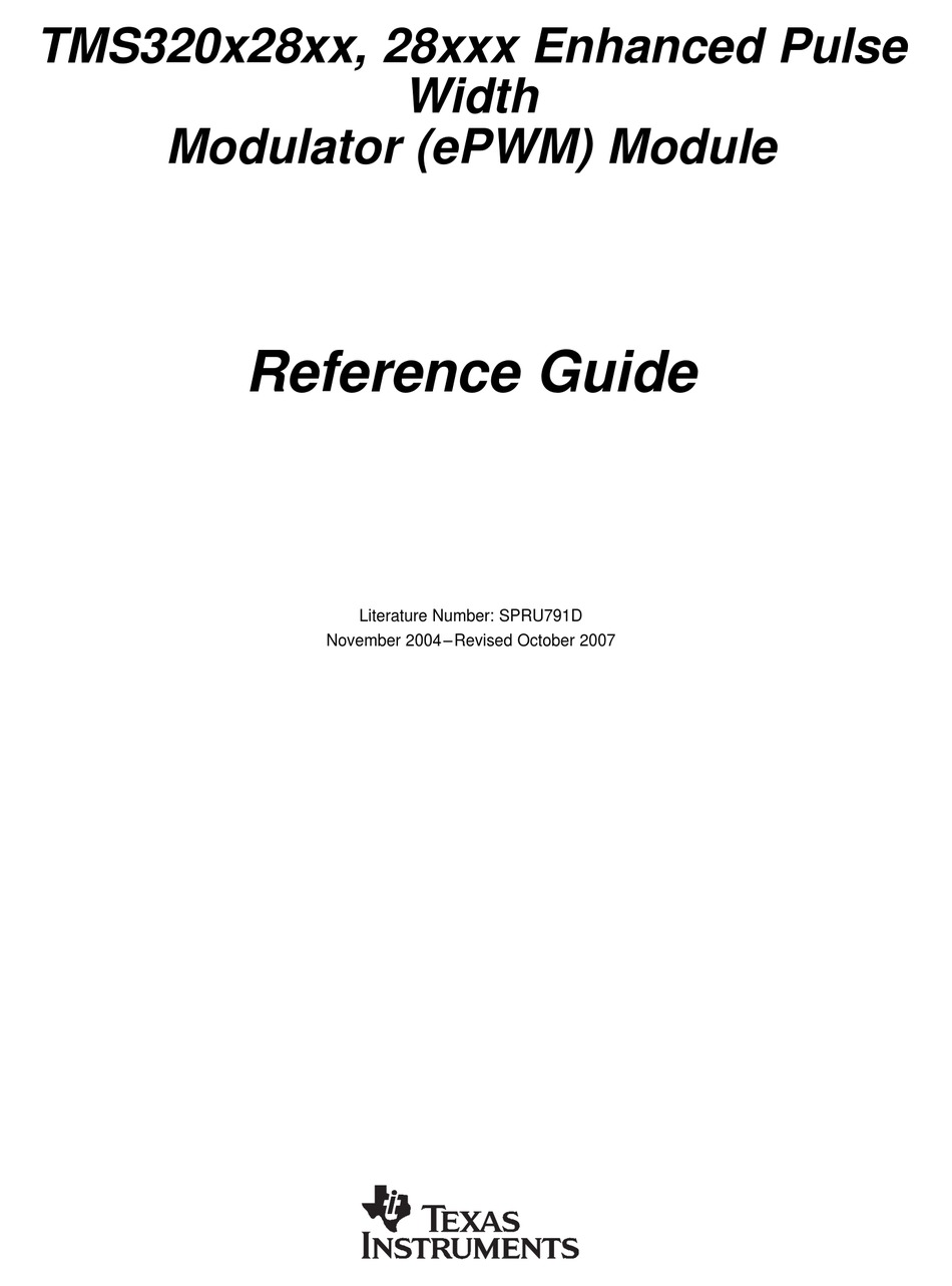 TEXAS INSTRUMENTS 28XXX REFERENCE MANUAL Pdf Download