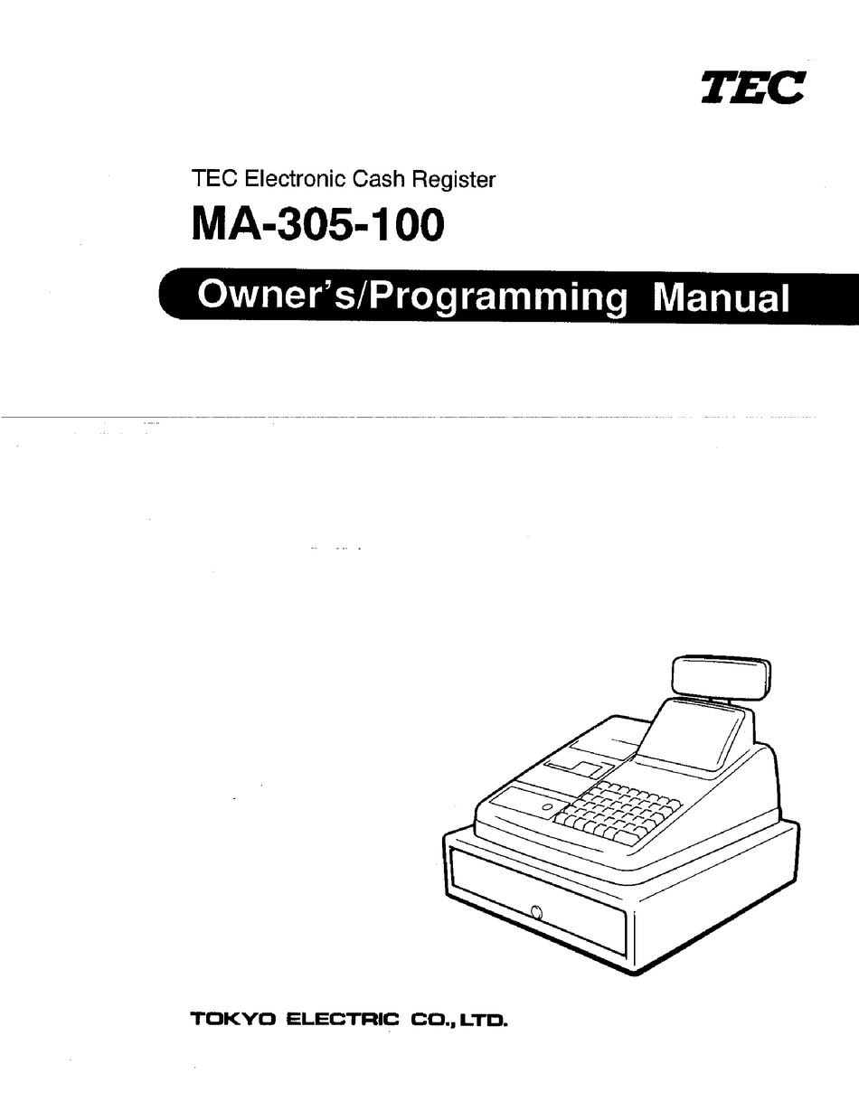 TEC MA-305-100 OWNER'S & PROGRAMMING MANUAL Pdf Download
