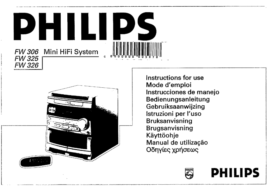 PHILIPS FW325/22 INSTRUCTIONS FOR USE MANUAL Pdf Download