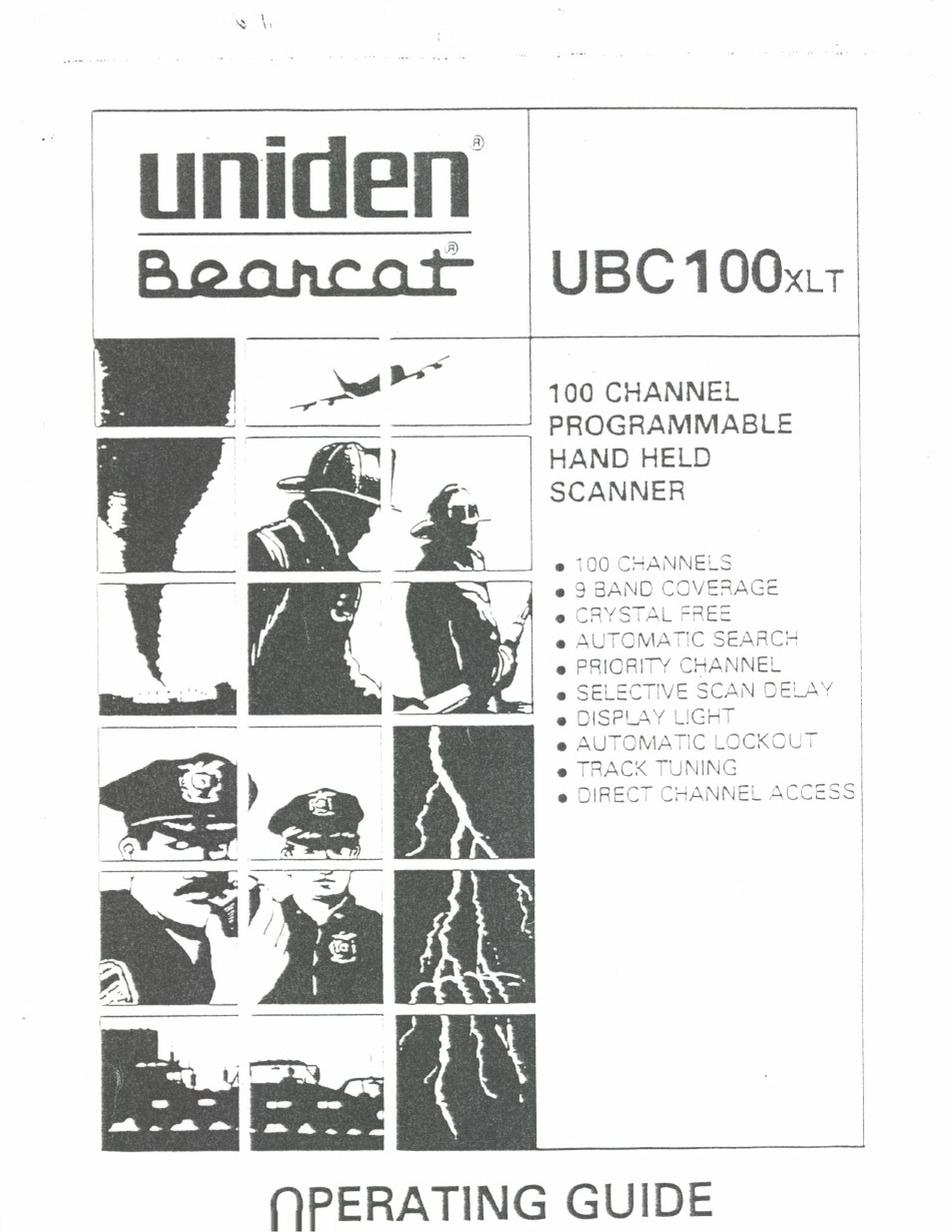 UNIDEN BEARCAT UBC100XLT OPERATING MANUAL Pdf Download