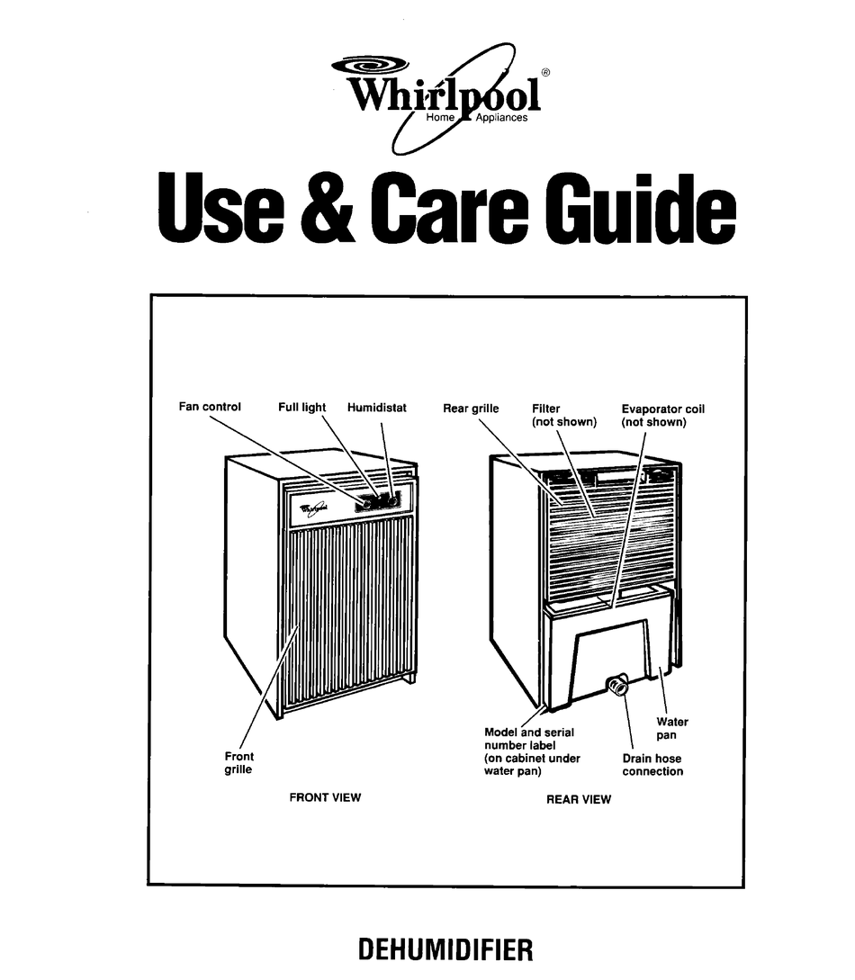 WHIRLPOOL 1ADM202XX0 USE AND CARE MANUAL Pdf Download