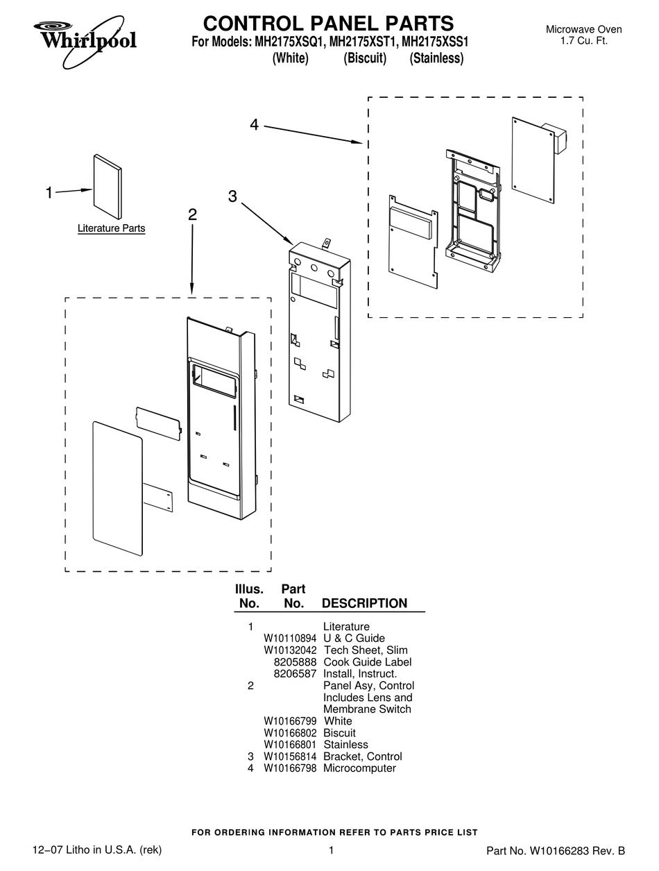 whirlpool mh2175xsq1 parts list pdf