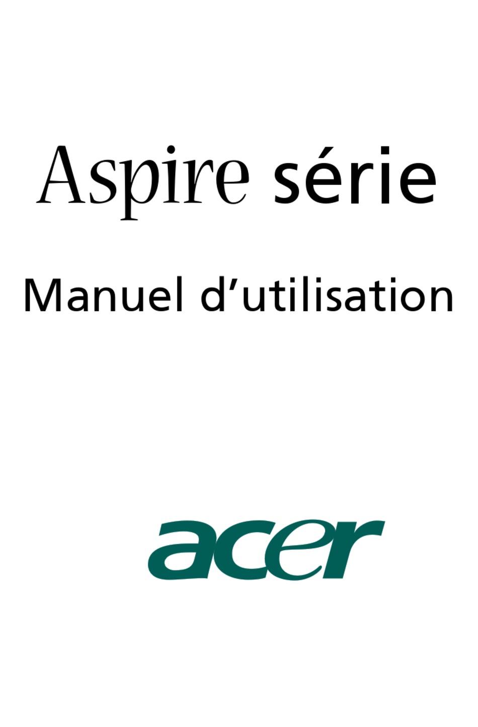 ACER ASPIRE T160 MANUEL D'UTILISATION Pdf Download