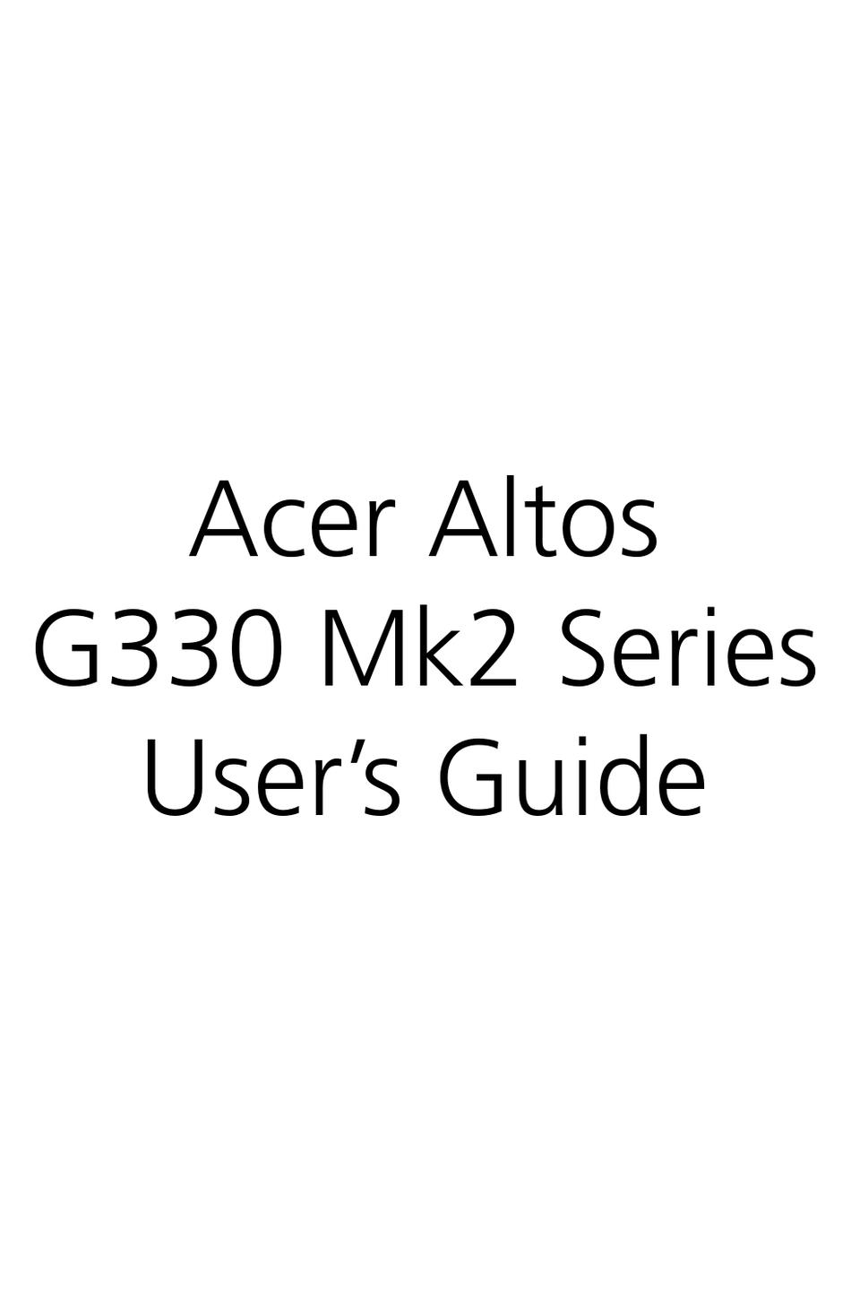 Acer Altos G310 Driver Download