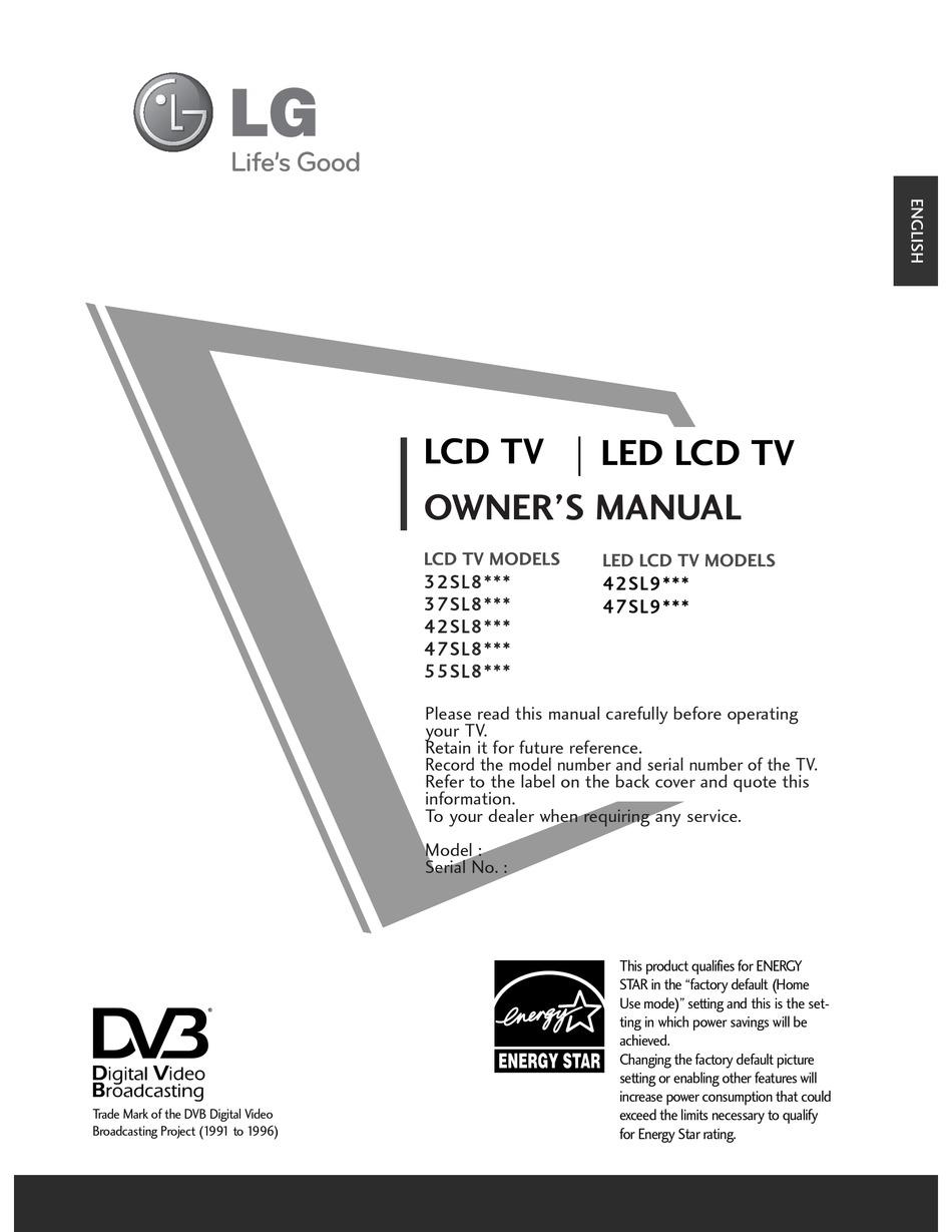 Lg 32Sl8000 32Sl8000 Zb Lcd Tv Service Manual Pdf / Lg