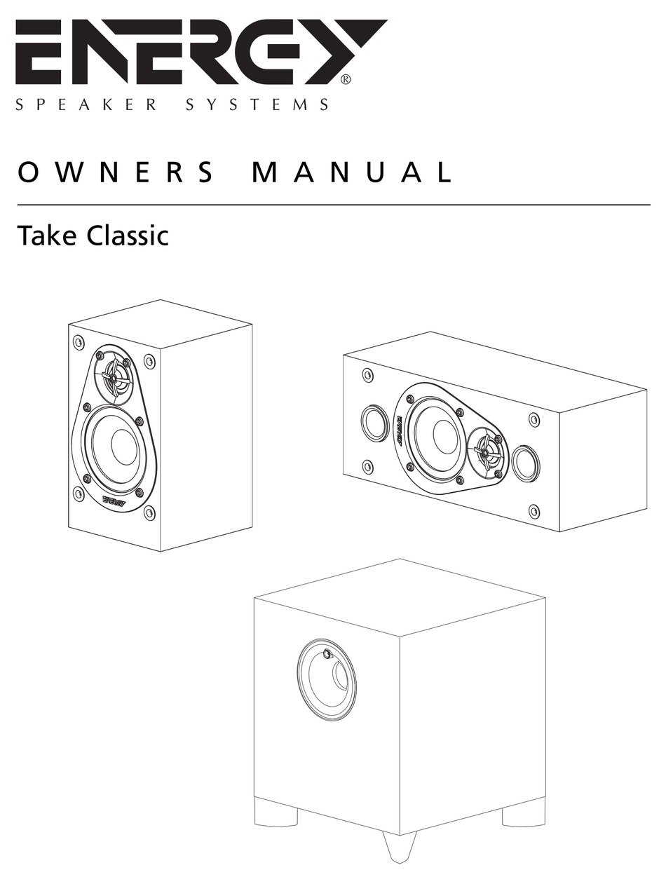 ENERGY 5.1 TAKE CLASSIC OWNER'S MANUAL Pdf Download