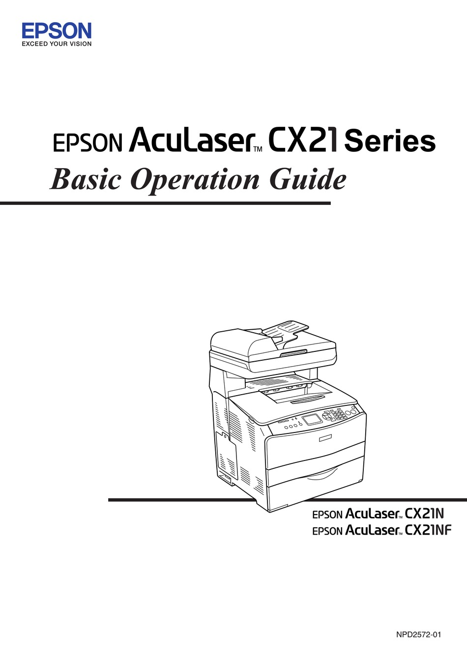 EPSON ACULASER CX21NF OPERATION MANUAL Pdf Download