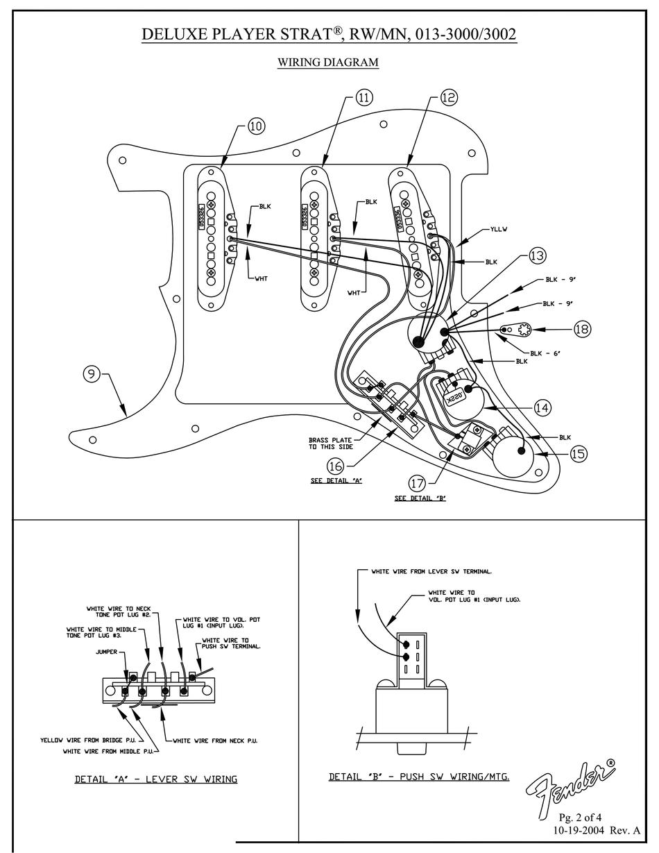 Fender Stratocaster Hss Wiring Diagram : Hss Stratocaster