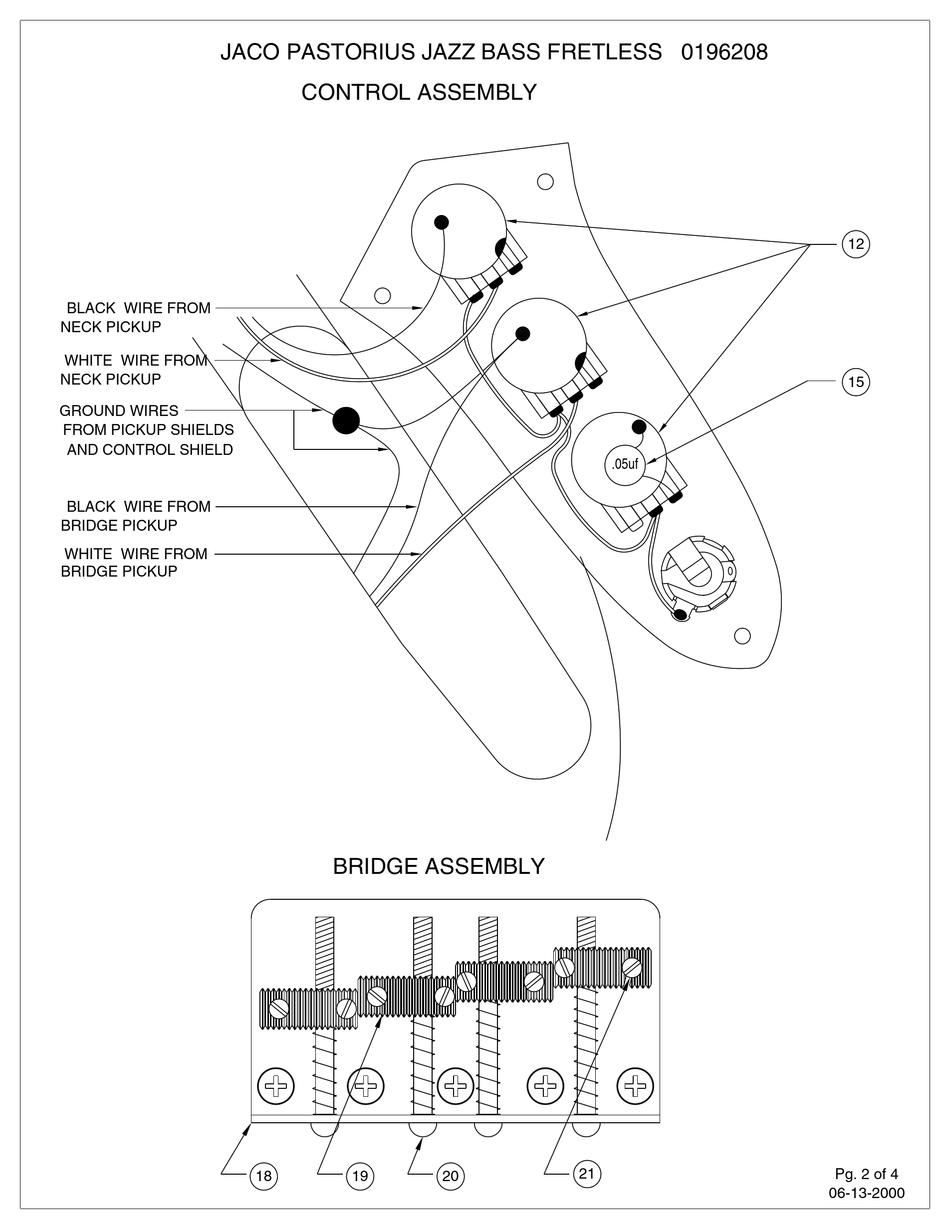 Jazz Bass Wiring Schematic : Wiring For Jazz Bass Stewmac