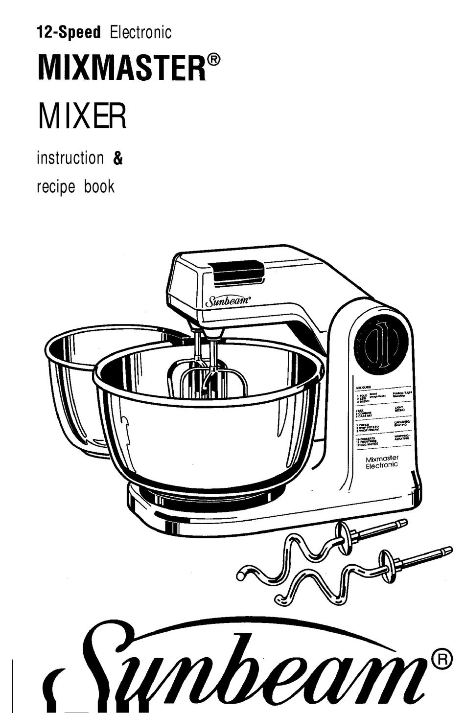 SUNBEAM MIXMASTER 12-SPEED ELECTRONIC MIXMASTER