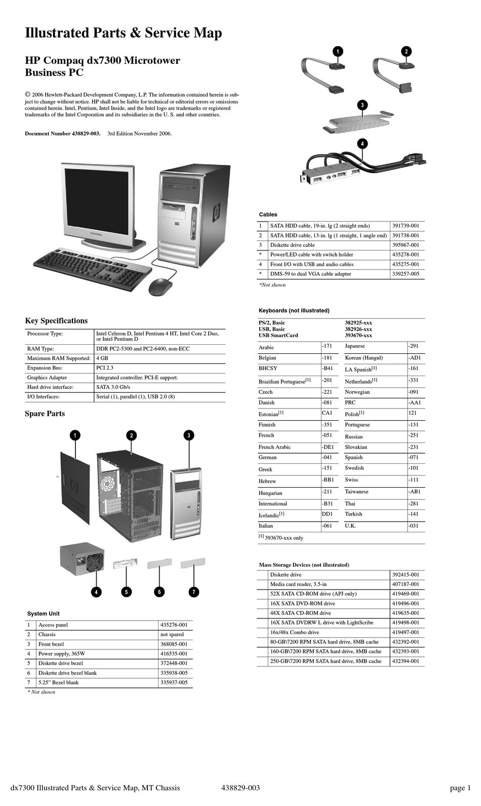 HP COMPAQ DX7300 MT SUPPLEMENTARY MANUAL Pdf Download