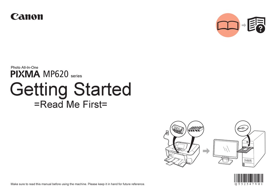 CANON PIXMA MP620 SERIES GETTING STARTED Pdf Download