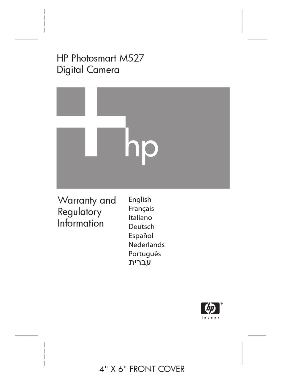 HP PHOTOSMART M527 WARRANTY AND REGULATORY INFORMATION Pdf