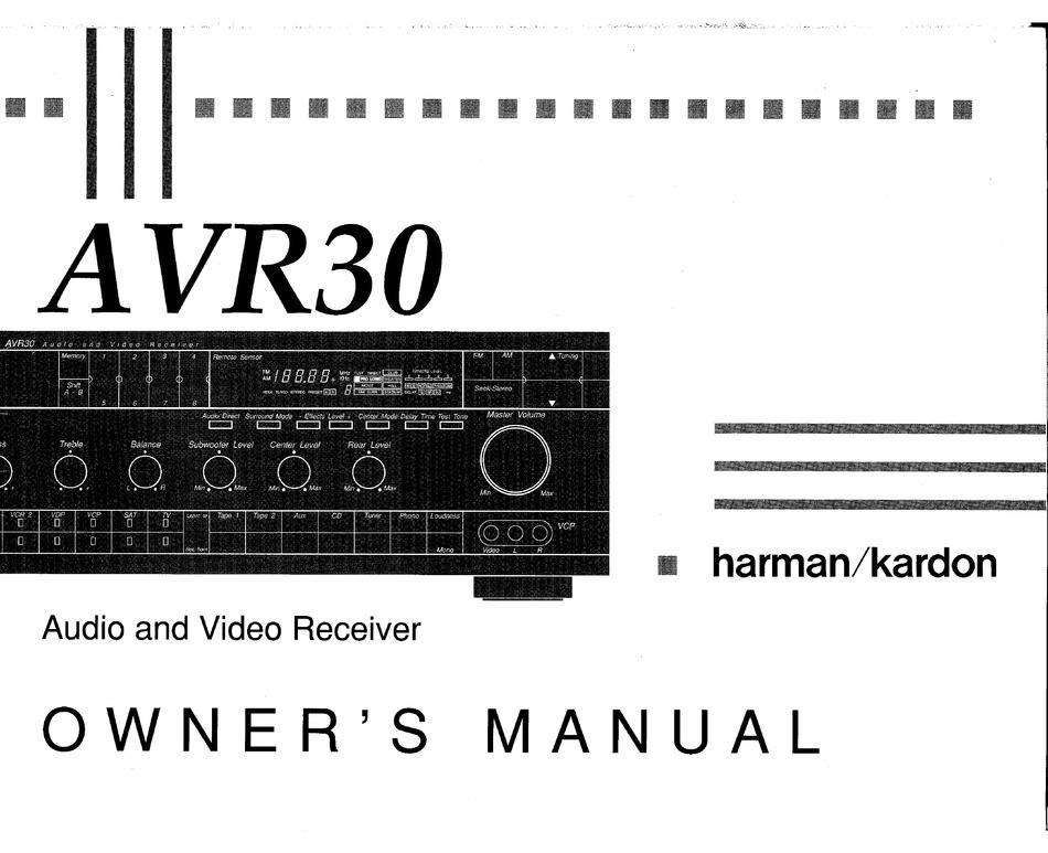 Harman Kardon Avr310 Av Digital Receiver Service Manual