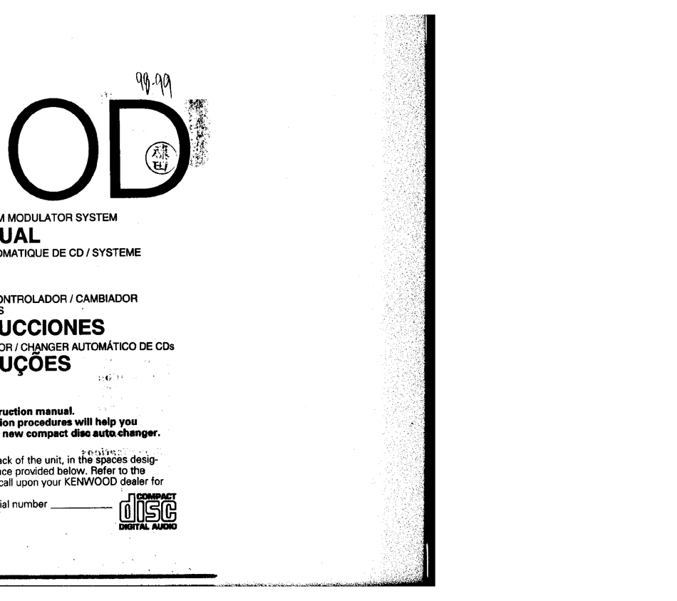 KENWOOD KDC-C462FM INSTRUCTION MANUAL Pdf Download