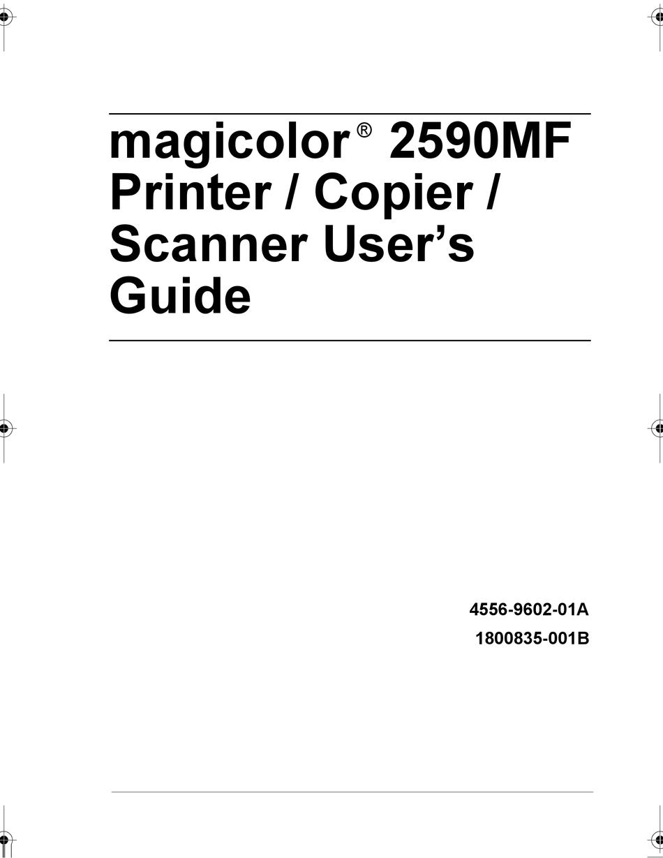 KONICA MINOLTA MAGICOLOR 2590 USER MANUAL Pdf Download