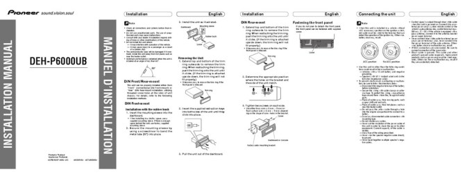 pioneer dehp6000ub installation manual pdf download