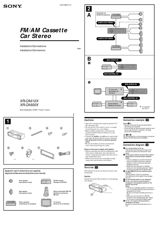 Xr6000 Sony Car Radio Wiring : Dodge Ram Wiring Diagram