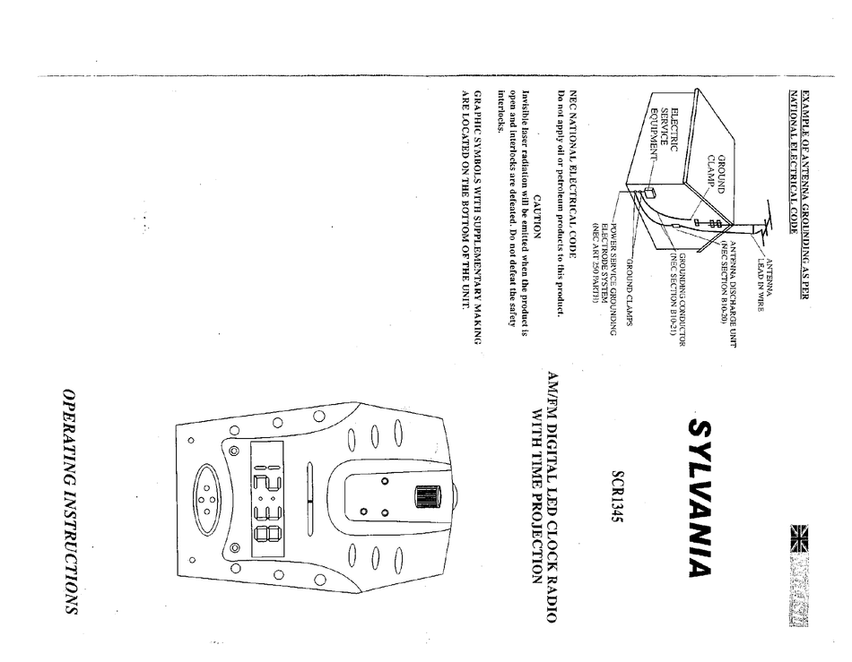 SYLVANIA SCR1345 OPERATING INSTRUCTIONS Pdf Download