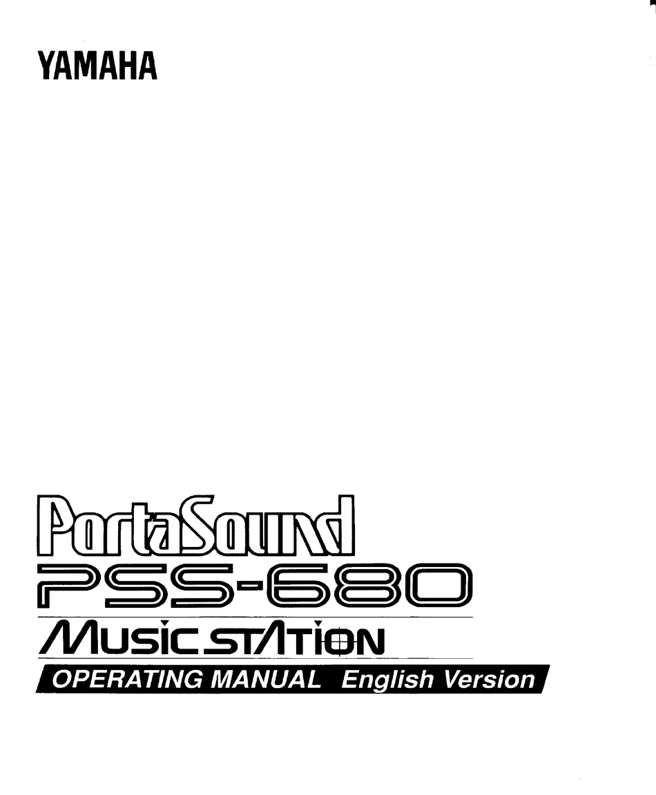 YAMAHA PORTASOUND PSS-680 OPERATING MANUAL Pdf Download
