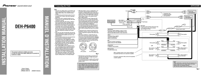 pioneer dehp6400 installation manual pdf download  manualslib