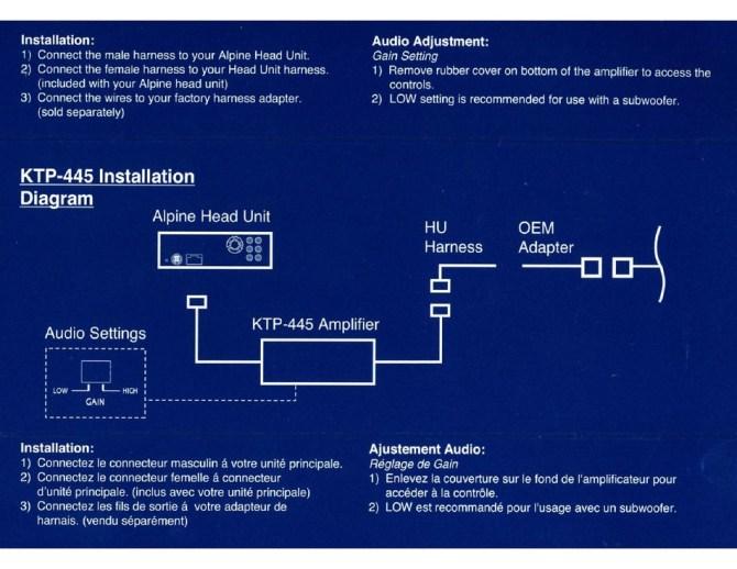 alpine ktp445  head unit power installation manual pdf