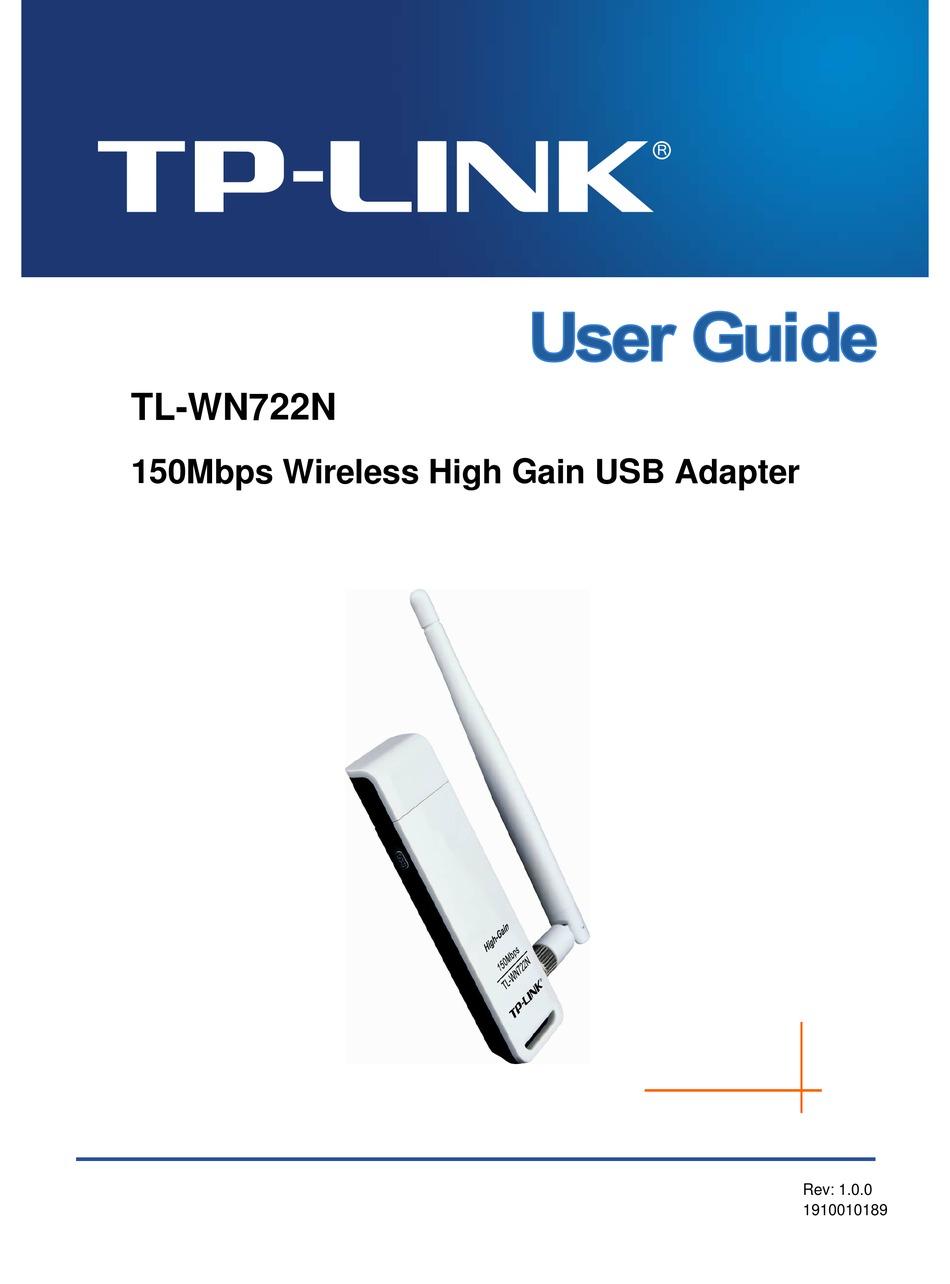 Driver Tp Link Tl-wn722n : driver, tl-wn722n, TP-LINK, TL-WN722N, MANUAL, Download, ManualsLib