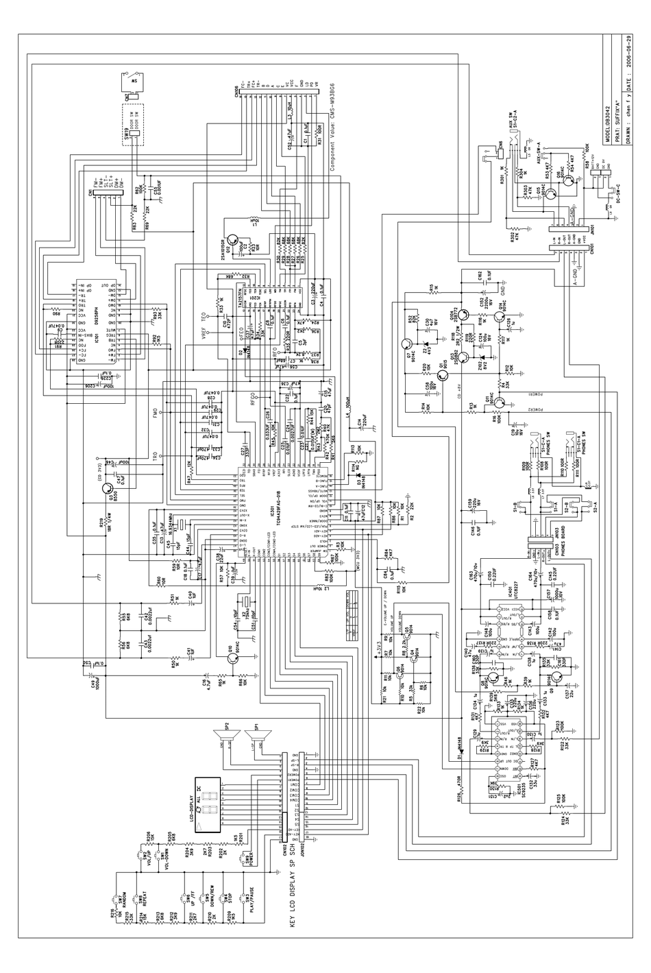 MEMOREX DB3042-MERSM SCHEMATIC DIAGRAMS Pdf Download