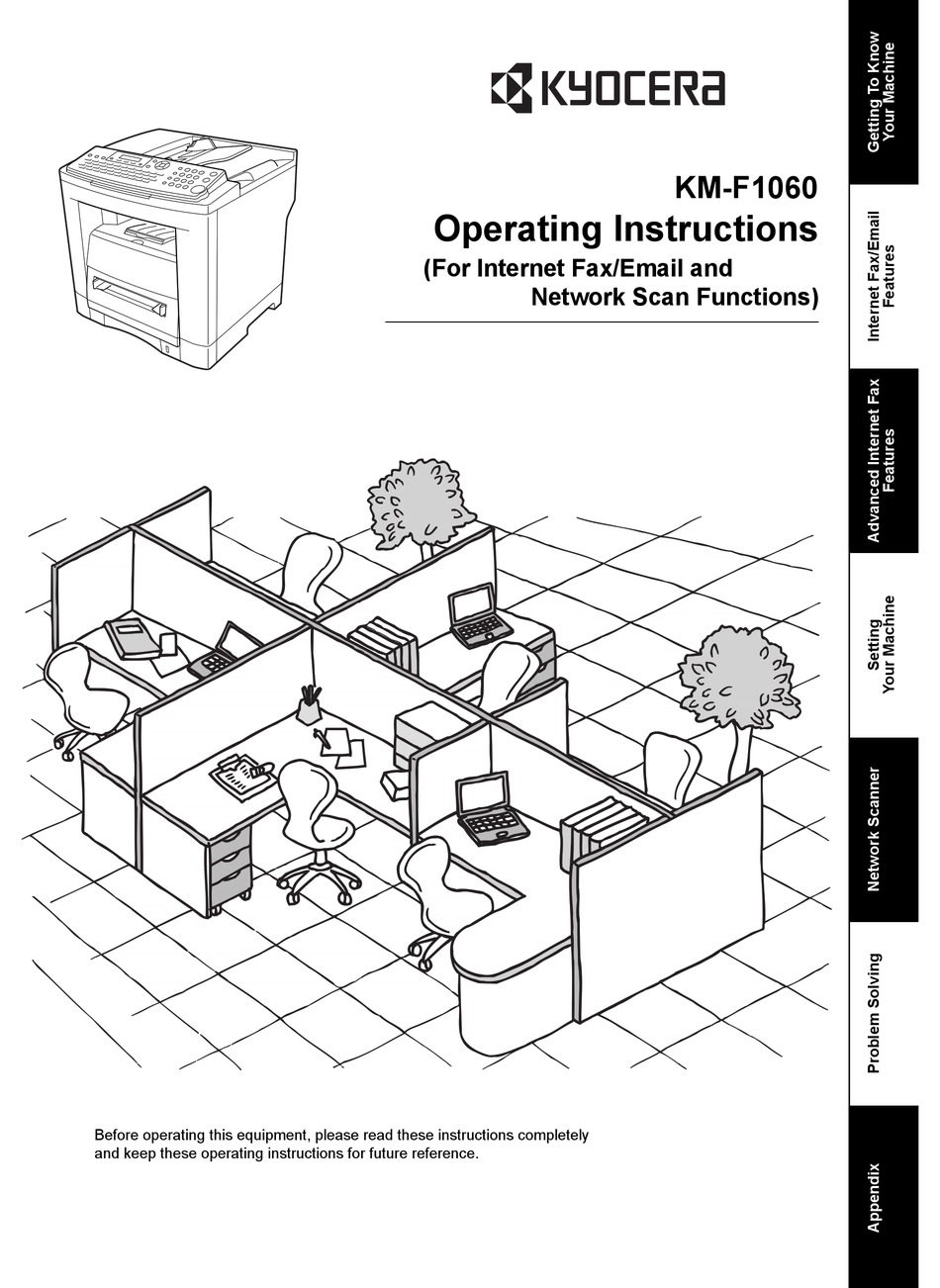KYOCERA KM-F1060 OPERATING INSTRUCTIONS MANUAL Pdf