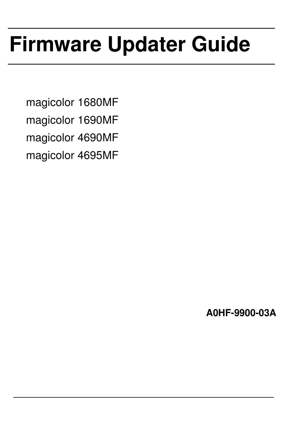 Software Printer Magicolor 1690Mf / Download the latest