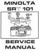 MINOLTA SR-T 101 MANUAL Pdf Download.