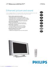 Philips 17-LCD HDTV MONITOR FLAT TV CRYSTAL CLEAR III